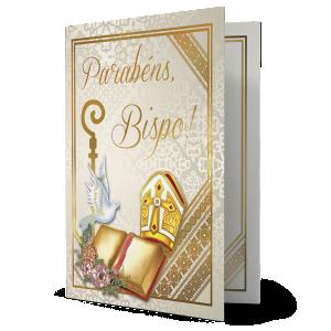 Cartão Parabéns Bispo - M-666A