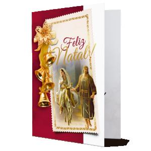 Cartão Feliz Natal Que a luz do Menino Jesus traga muita paz..- MB-012