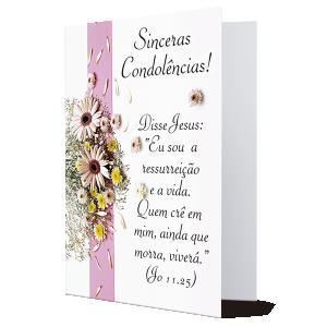 Cartão Sinceras Condolências! - M-240A