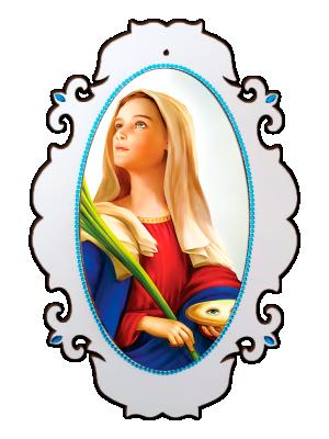 Medalhão Santa Luzia - MSG-034
