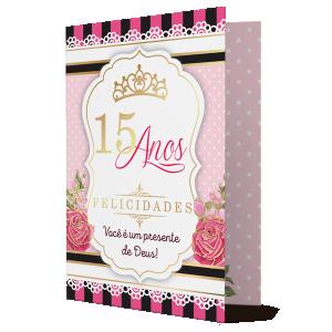 Cartão 15 Anos Felicidades - PD-019