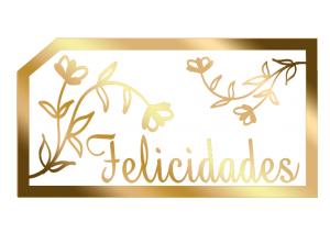 Etiqueta Decorativa - Felicidades - AP-003