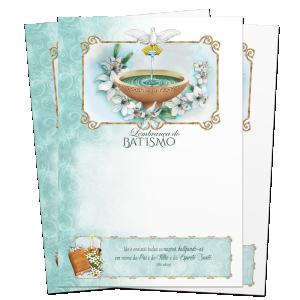 Lembrança de Batismo - Sem texto - LS-061