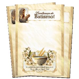 Lembrança de Batismo - Sem texto - LS-060