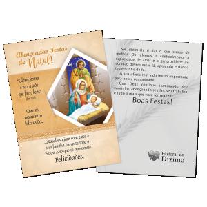 Postal Natal Dizimista - Abençoadas festas de Natal - ND-008