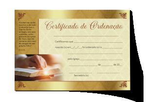 Certificado de Ordenação - CEP-029