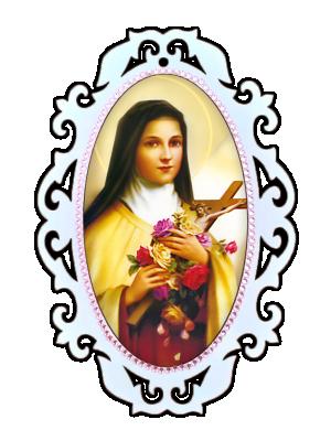 Medalhão Santa Terezinha das Rosas - MSM-023