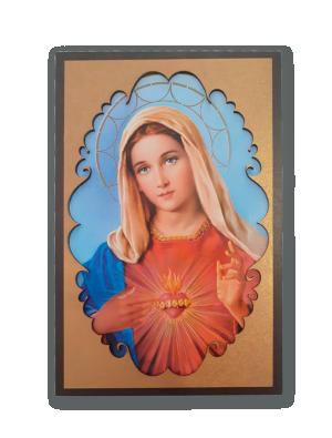 Placa de Fé Sagrado Coração de Maria - PF-021