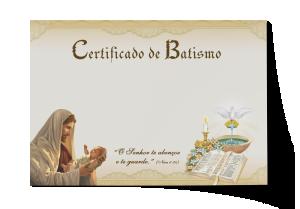 Certificado de Batismo - CEP-034