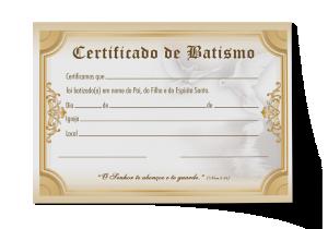 Certificado de Batismo - CEP-022