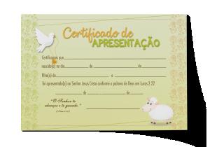 Certificado de Apresentação - CEP-024