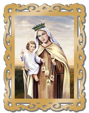 Quadro MDF Nossa Senhora do Carmo - QG-014