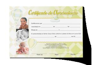 Certificado de Apresentação - CEP-028