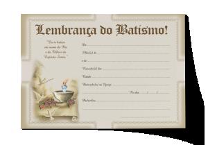 Lembrança do Batismo - CEP-038