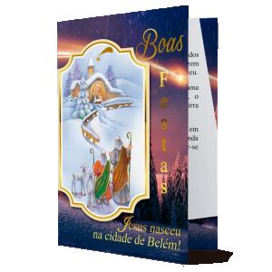 Cartão Boas Festas... Jesus nasceu na cidade de Belém - MB-234