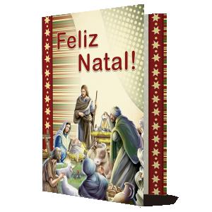 Cartão Celebramos no Natal o nascimento do Menino Jesus... - PN-006