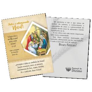 Postal Natal Dizimista - Feliz e abençoado Natal - ND-007