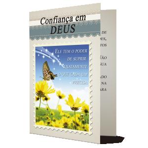 Cartão Confiança em Deus... - M-517A