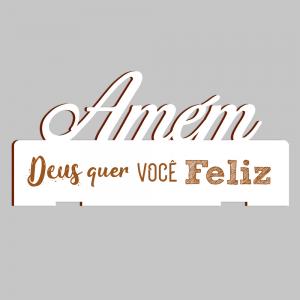 Placa Decorativa de Mesa Amém - PDM-001