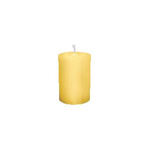 Vela para altar amarela - 10x7cm - V-002
