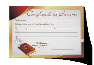 Certificado de Batismo - CEP-023