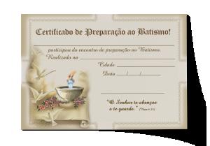 Certificado de Preparação ao Batismo - CEP-035