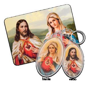 Chaveiro Sagrado Coração de Jesus e Imaculado Coração de Maria - CH-009