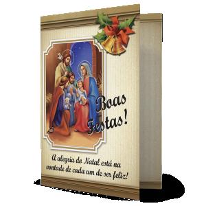 Cartão A alegria do Natal está na vontade de cada um de ser feliz - MB-236