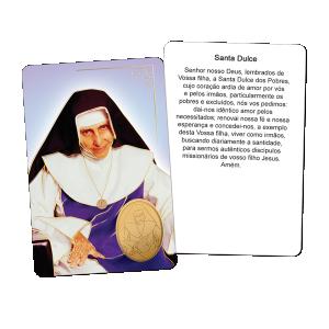 Santinho Hotstamp Santa Dulce - SH-025