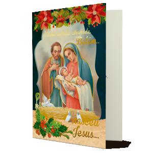 Cartão Nessa cidade chamada Belém nasceu Jesus! - MB-235