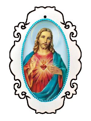 Medalhão Sagrado Coração de Jesus - MSM-021