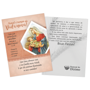 Postal Natal Dizimista - Natal é tempo de vida nova. - ND-005