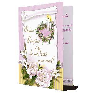 Cartão Muitas Bençãos de Deus para você! - M-255A