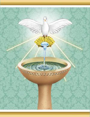 Adesivo Sacramentos Batismo - 5 cartela com 60 adesivos - AS-001
