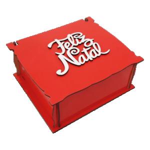 Caixa de Natal Vermelha - CMM-010