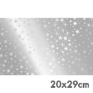 Saco de Presente - 20x29cm - Estrelas Prata - 50 unidades - SPN-003