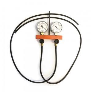 Vacuômetro automotivo duplo com 0 a 760 pol/Hg