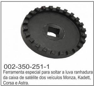 Ferramenta Espedial  para Soltar a Luva Ranhurada da Caixa de Satélite - CR251- CR Ferramentas