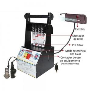 Máquina de Limpeza de bico e Teste Injetores