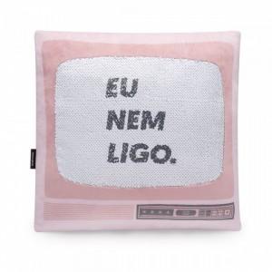 ALMOFADA LANTEJOULAS TV NEM LIGO