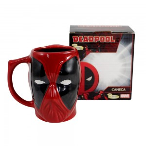 CANECA FORMATO 3D 400ML DEAD POOL
