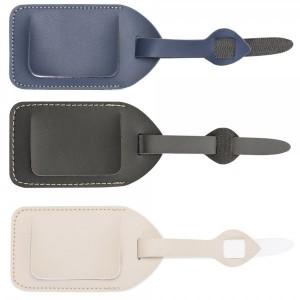 Tag identificador de bagagem em couro sintético