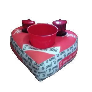 Kit Pipoca em formato de coração