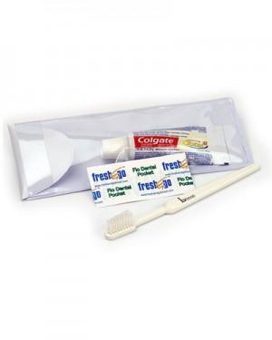 Kit higiene bucal adulto em estojo de PVC
