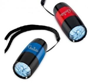 Lanterna em alumínio com LED