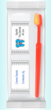 Kit descartável para higiene bucal