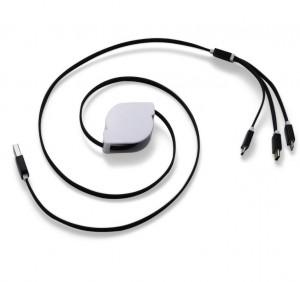 CABO USB RETRÁTIL 3 EM 1