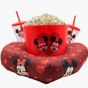 Almafada pipoca da Minnei e Mickey