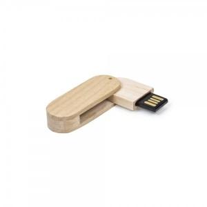 Pen Drive 4GB giratório em bambu