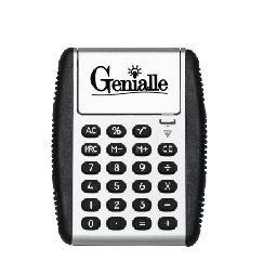 Calculadora plástica com bordas emborrachadas